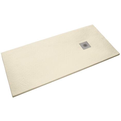 Siko Receveur de douche rectangulaire Stone 120x80 cm marbre coulé, beige (SIKOSTONE12080SN)