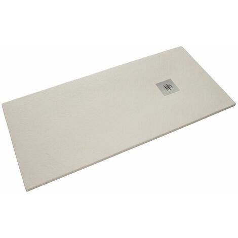 Siko Receveur de douche rectangulaire Stone 120x80 cm marbre coulé, blanc (SIKOSTONE12080SB)