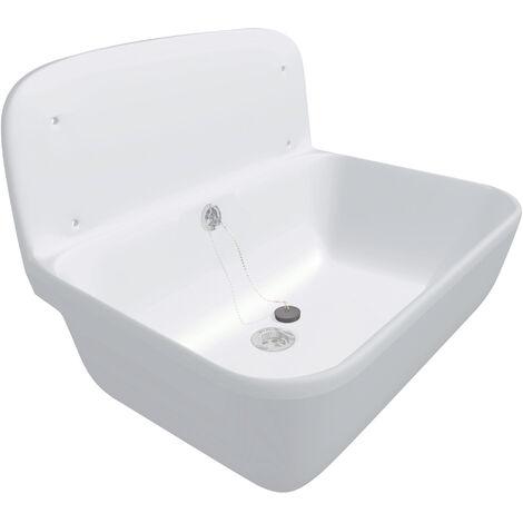 Sanit (Groupe Nicoll/Aliaxis) Poste d eau pour fixation murale, blanc (60001010099)