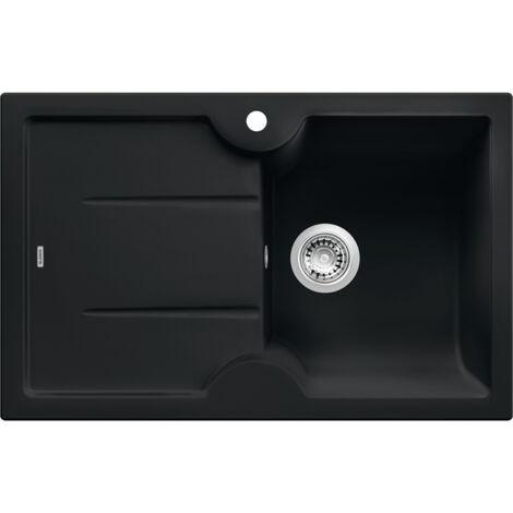 Blanco Evier Idessa 45 S en Céramique à encastrer 78x50cm, Noir (514500)