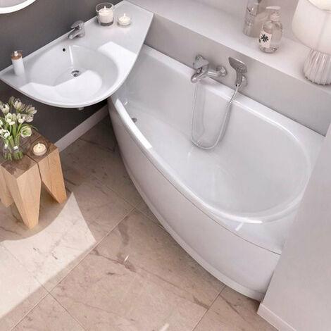 Ravak Avocado Tablier en acrylique blanc pour baignoire, orientation droite, 160cm (CZI1000A00)