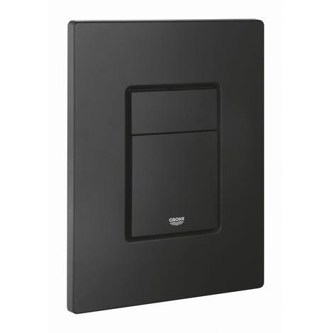Grohe Even Plaque de commande double touche, Technologie anti-empreintes, Noir mat (38966KF0)