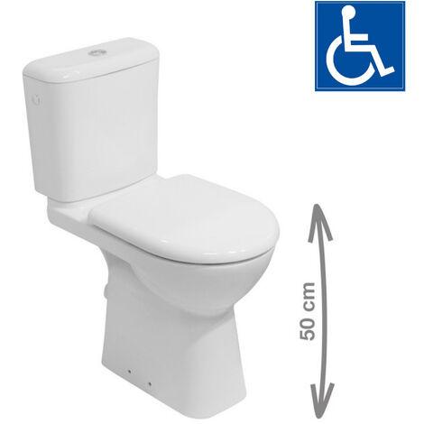 Jika (Groupe Roca) Pack WC à poser Deep PMR avec évacuation verticale