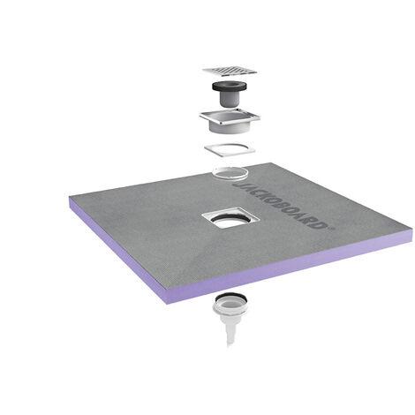 Jackon Receveur de douche à carreler Aqua Centré 900x900x40mm siphon vertical offert (4512087 + 4512008)