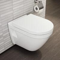 Roca Pack Bâti-support Roca Active + WC suspendu Vitra + Abattant soft close + plaque blanche (RocaActiveS50softclose-1)
