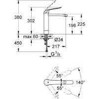 "Grohe Euroeco Special Mitigeur monocommande 1/2"" Lavabo (30208000)"