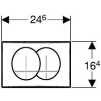 Geberit Delta Pack bâti-support Duofix 112cm + plaque de commande blanche Delta20 + fixations murales (111.154.11.1)