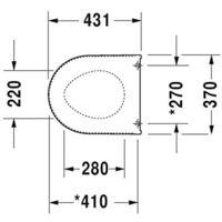 Duravit Starck 3 Abattant de toilette avec frein de chute, Duroplast (006389)