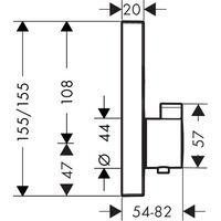 Hansgrohe ShowerSelect Set de finition pour mitigeur thermostatique encastré, Aspect Doré poli + Corps d'encastrement (15763990-SET)
