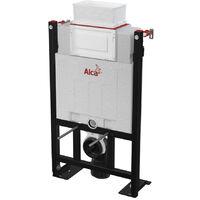 Alca Pack WC Bâti 85 cm autoportant + WC Ideal Standard Tesi sans bride + Plaque chrome brillant (Alca85FTesi-8)