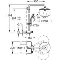 Grohe Euphoria SmartControl System 260 Mono Colonne de douche thermostatique (G-26509000)