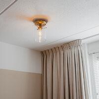QAZQA Plafoniera dome - Moderno - Acciaio,Vetro - Bronzo/Trasparente - Cilindro Max. 1 x Watt