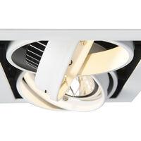 QAZQA + Faretto da incasso grande oneon - Design - Acciaio - Bianco - Allungato Max. 2 x Watt