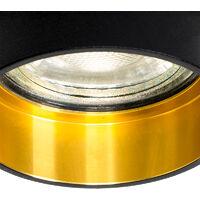QAZQA + Faretto da incasso insta - Moderno - Alluminio - Nero - Cilindro Max. 1 x Watt