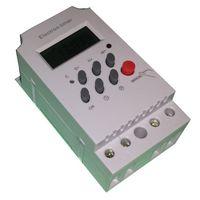 Interruptor programador horario digital panel/carril blanco
