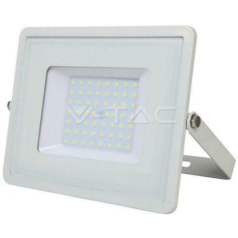 Projecteur slim 50w cip cip led samsung warm light 3000k white color vt-50 409