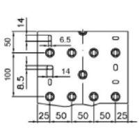 2 mÈtres de chemins de cÂbles et de porte-cÂbles ta-n 200x80 w b01874
