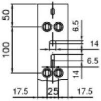 2 mÈtres de chemin de cÂbles et porte-cÂbles ta-n 60x60 w b01856