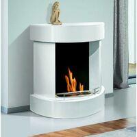 Tecno air system bio-fireplace sanremo floor standing white bioasanr b