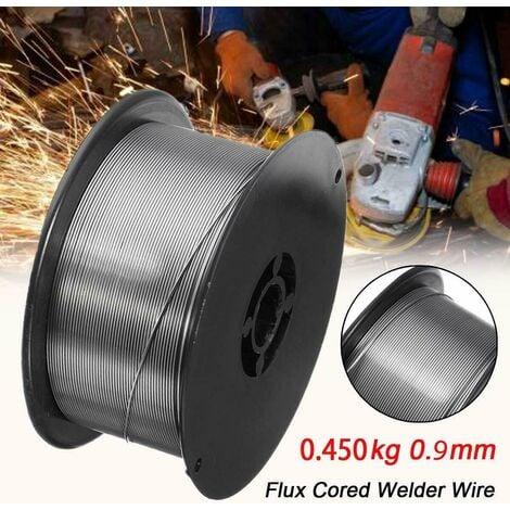 hilo de soldar sin gas soldador o flux 0,9 mm no gas 0,45 kgs mig