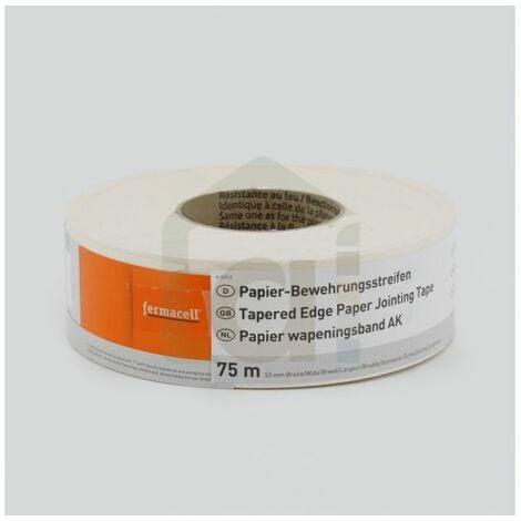 Bande papier renforcée pour traitement de joints - Fermacell 75m x 53mm   rouleau(x) de 0 épaisseur   75m x 53mm =