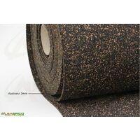 Rouleau isolant liège et caoutchouc 70/30 NOVAFLEX AESOUND - 30% liège - 70% caou. épaisseur 2mm   10m x 1m = 10m²