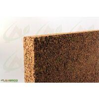 Plaque de liège naturel brut - Isolant thermique et phonique - 60mm - 60mm | panneau(x) de 0.5 m² - 0