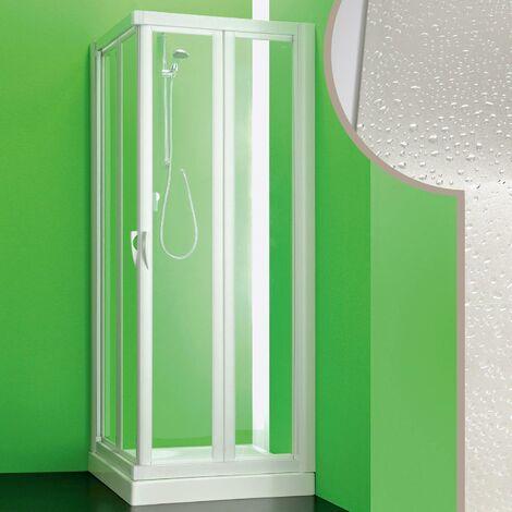 Mampara de ducha 80x80 CM de Acrílico mod.Giove con Apertura Plegable