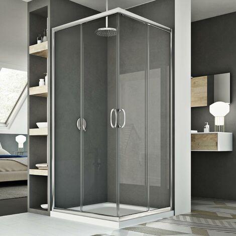 Mampara de ducha 75x75CM H185 Transparente mod. Junior