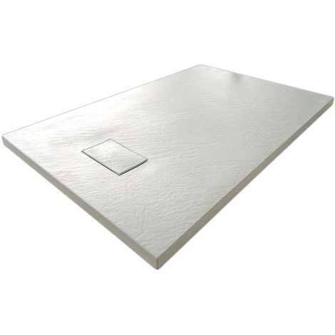 Plato de ducha 90x90x2,6 CM Cuadrado Blanco Efecto Piedra mod. Strong