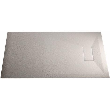 Plato de ducha 80x160x2,6 CM Rectangular Blanco Efecto Piedra mod. Strong