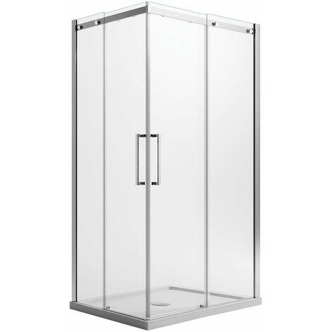 Mampara de ducha Cuadrado 75x75 CM H200 Transparente Versión Cuadrada con Easy-Clean mod. Prime Corner