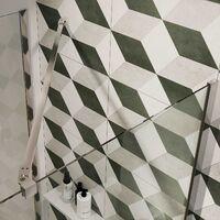 Pared de ducha Walk In 26CM H190 Cristal Transparente con Tratamiento Antical mod. Flip