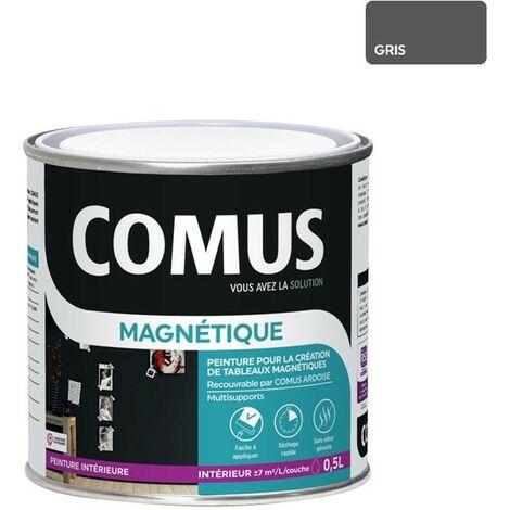 PEINTURE MAGNÉTIQUE Gris 0,5L - Peinture pour la création de tableaux magnétiques - COMUS