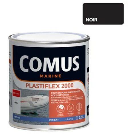 PLASTIFLEX 2000 NOIR 0,5L - Finition pour Pneumatiques 100% polyuréthanes - COMUS MARINE