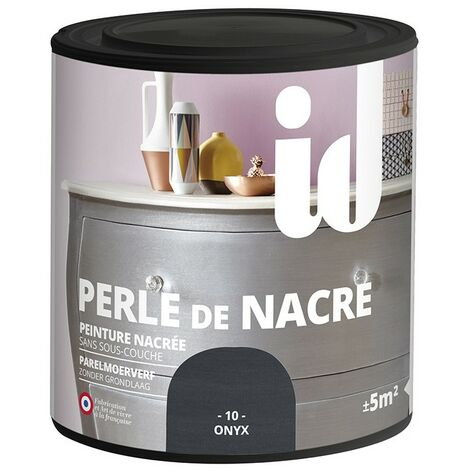 Peinture meubles et boiseries PERLE DE NACRE 500ML ONYX - ID Paris