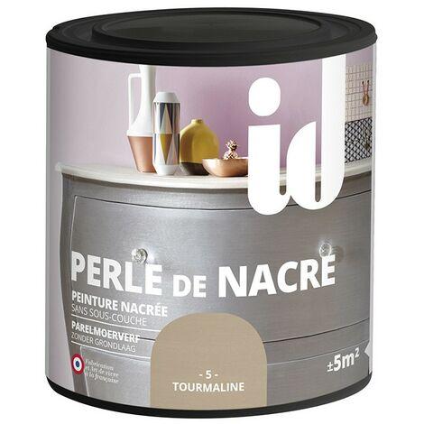 Peinture meubles et boiseries PERLE DE NACRE 500ML TOURMALINE - ID Paris