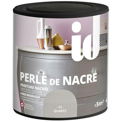 Peinture meubles et boiseries PERLE DE NACRE 500ML QUARTZ - ID Paris