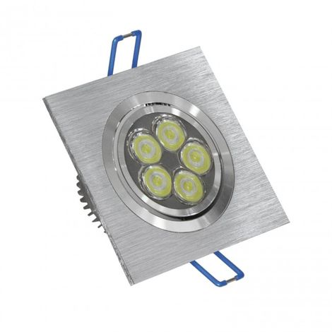 LuzConLed - Ojo de Buey LED 6W 3000K cuadrado aluminio - ENVÍO DESDE ESPAÑA