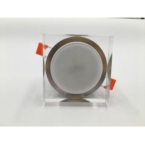 LuzConLed - Ojo de Buey LED 6W difusor superpuesto cuadrado 4000k - ENVÍO DESDE ESPAÑA
