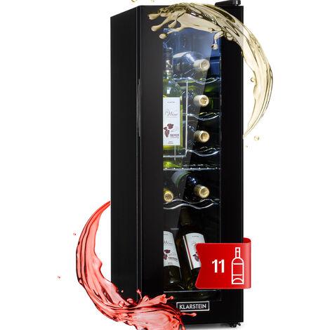 Shiraz 12 Slim Weinkühlschrank 32l/12Fl. Touch-Bedienfeld 85W 5-18°C LED schwarz