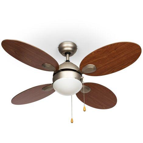 """Valderama 2-in-1 Ceiling Fan 42"""" 60W Ceiling Lamp Cherry Look"""