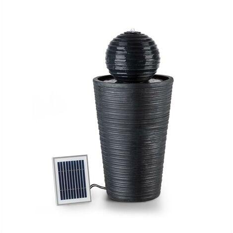 Liquitorre Solar Fountain 200l / h Solar Panel 2W Battery LED Polyresin