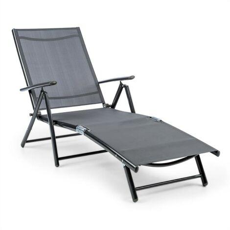 Blumfeldt Modena Sun Lounger 64x85x170cm Aluminium / Steel Tube Grey