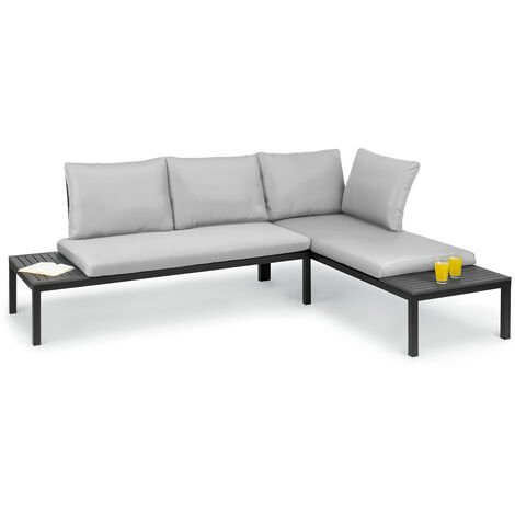 Cartagena Lounger, 2 Two-Seaters with Table, Steel, Polyester