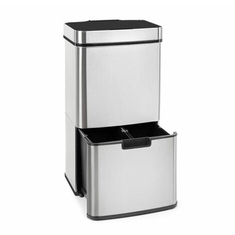 Touchless Rubbish Collector Sensor 72L 4 Containers ABS / PP / Stainless Steel