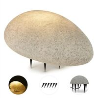 Lightcraft Shiny Nugget Stone Light Exterior Light Garden Lamp Granite