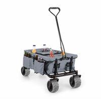 Greyjoy Hand Cart Wagon Trolley Foldable 68kg Side Pockets Grey