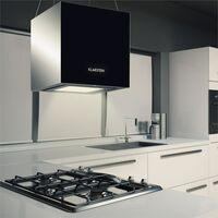 Kronleuchter Extractor Hood Ceiling Hood LED Glass Mirrored Black