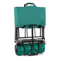 The Green Hand Cart Wagon Trolley Foldable 70kg 90l Wide Wheels 10cm Green